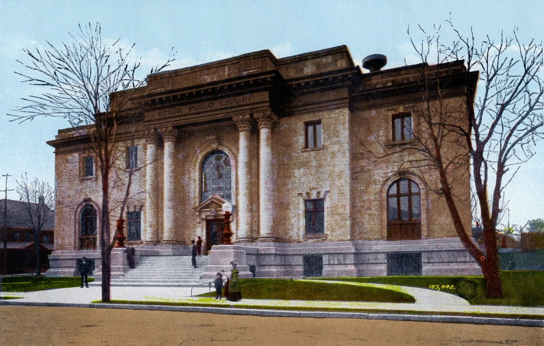 The original Ottawa Library Main Branch at Metcalfe and Laurier