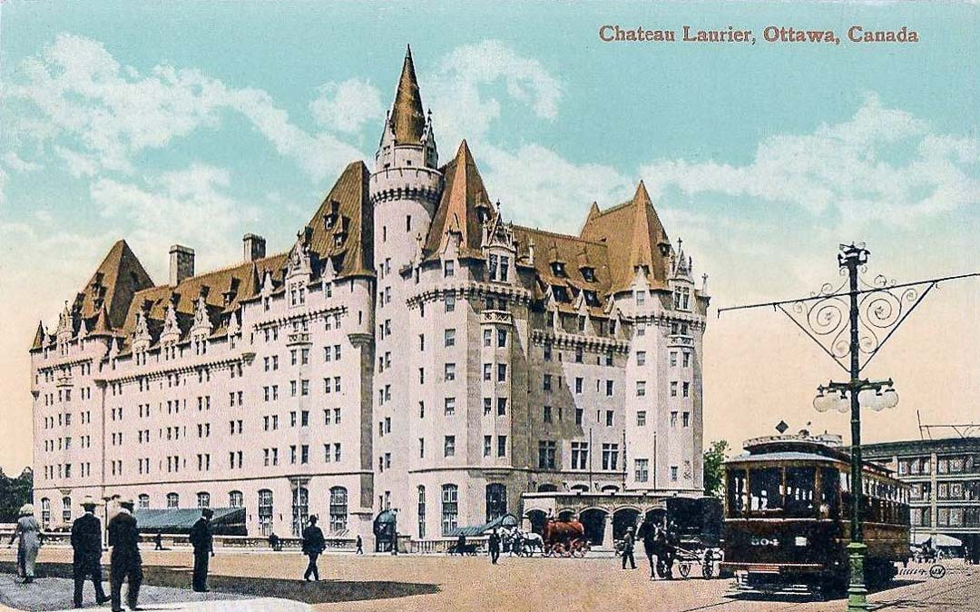 Illustration of Chateau Laurier and Plaza