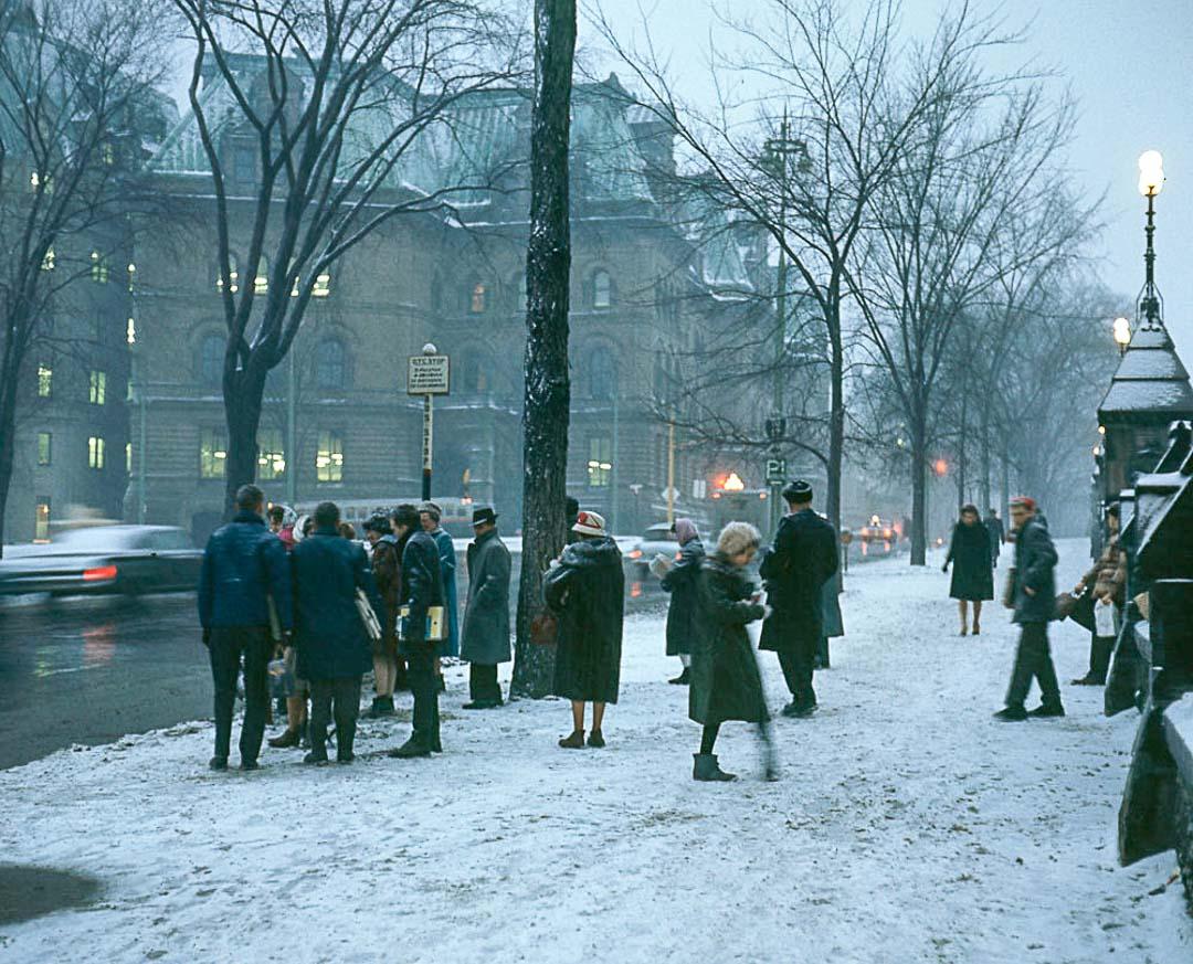 snow people street