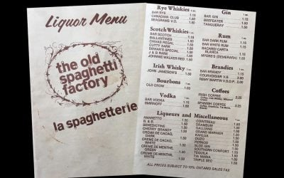 The Old Spaghetti Factory on York Street