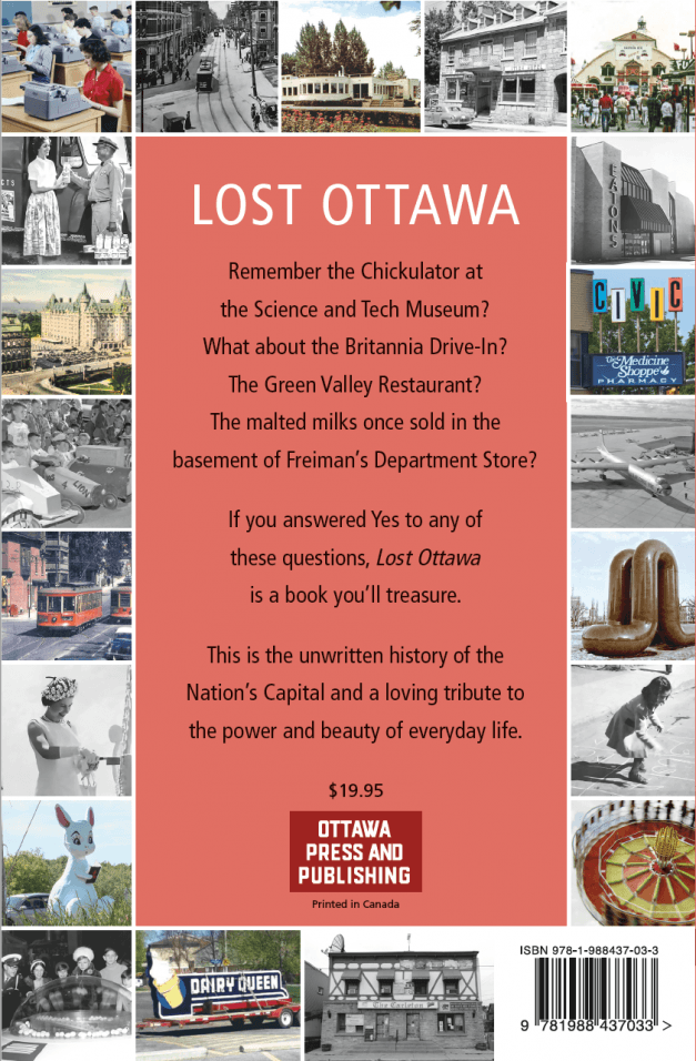 Back Cover -- Lost Ottawa V.1