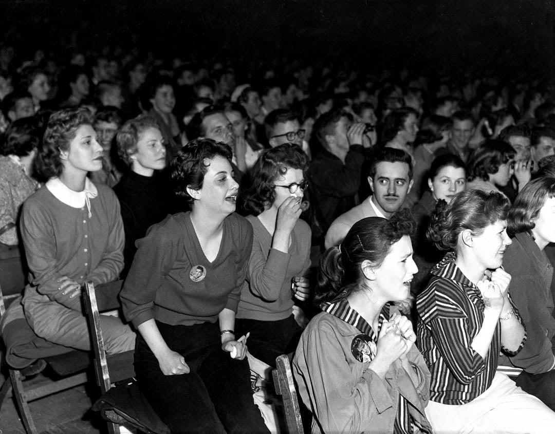 Elvis fans auditorium