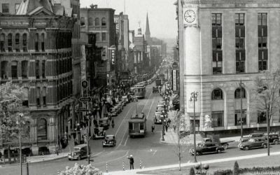 Looking West down Sparks Street in 1940